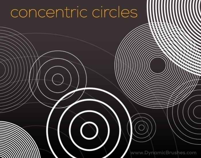 Concentric Circles Brushes. FRE - liora-1444 | ello