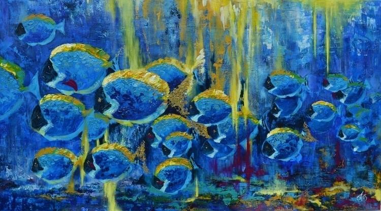 Seabed 100x180 Acrylic canvas.  - tanya_vasilenko | ello