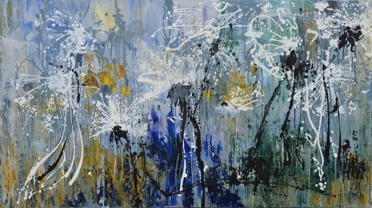 Dandelions. 100x180. Oil canvas - tanya_vasilenko | ello