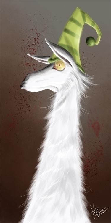 Caaaarrrrrrl - llamas, illustration - hasaniwalker | ello