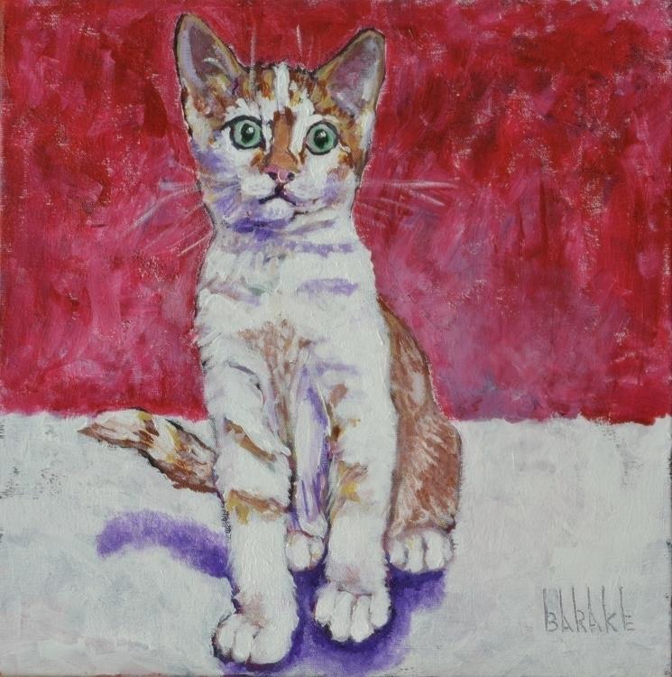 VINCENT - painting, cat, portrait - barakesculptor   ello