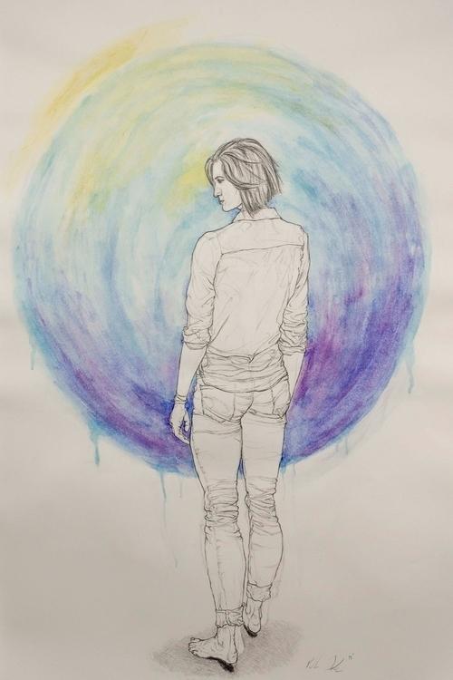 Hesitation - drawing, illustration - kmjoslin | ello
