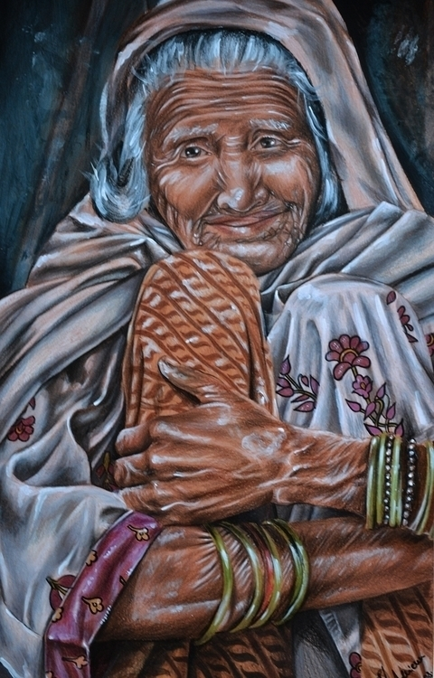 Lady - colored pencils - drawing - adriennschmitt | ello