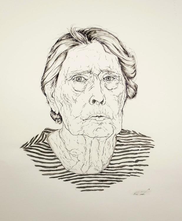 Lady Stripes - penink, portrait - kmjoslin | ello