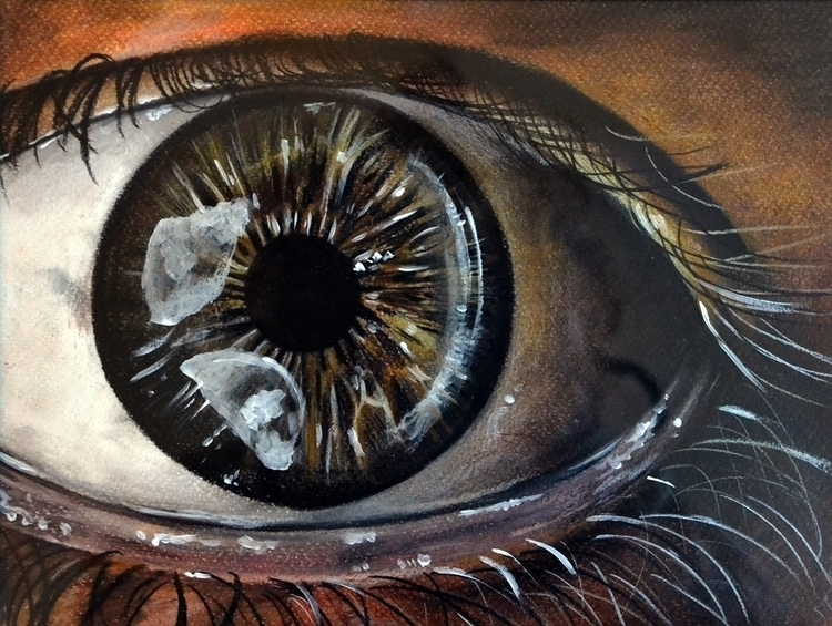 Eye - drawing, coloredpencil - adriennschmitt | ello