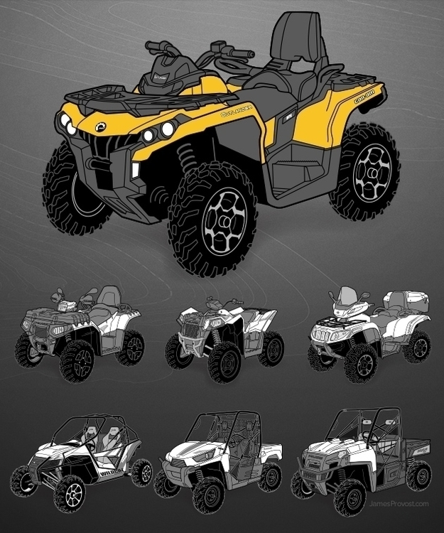 ATV Illustrations - line, lineart - jamesprovost | ello