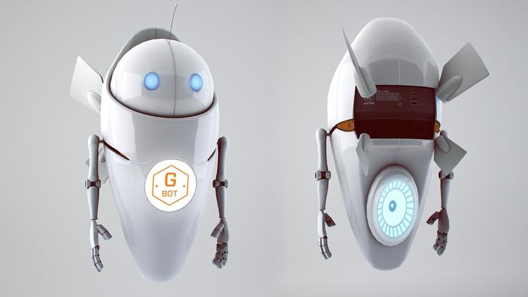 GBot MkI game model render - animation - miruku3d | ello
