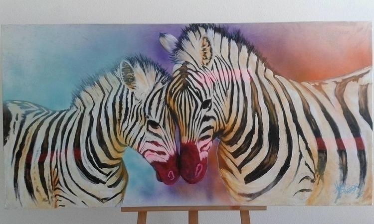 Epic Zebras (acryl canvas, 140c - yvo-1438 | ello