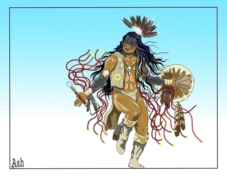 Sky Dancer 2 - native,nativeamerican,nativeamericandancer,firstnations,firstnationsdancer,sundancer,medicine,medicinewheel,medicinedancer,ghostshirt,ghostdance,ghostdancer,shaman,witchdoctor,shamanka,healer - metabaron777 | ello