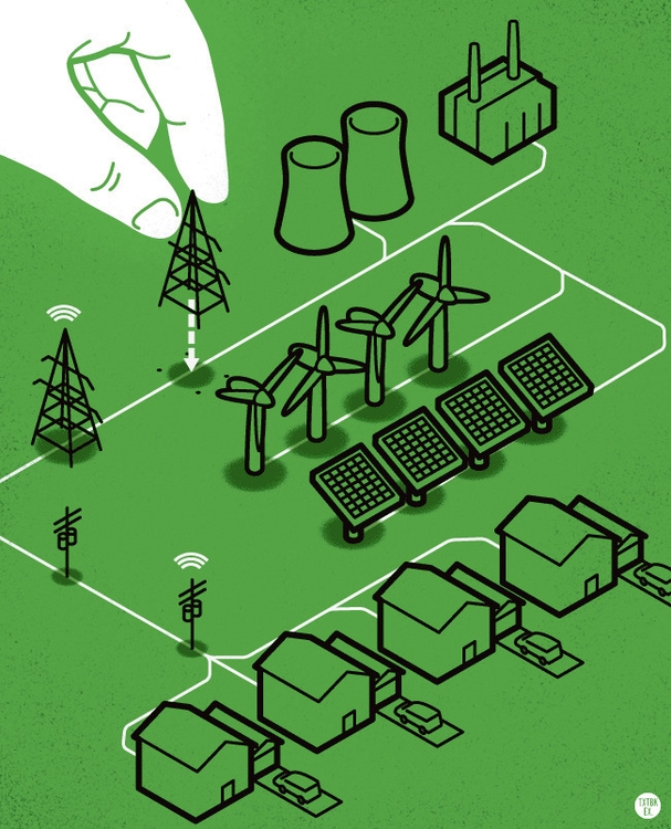 Smart Grid - editorialillustration - jamesprovost | ello