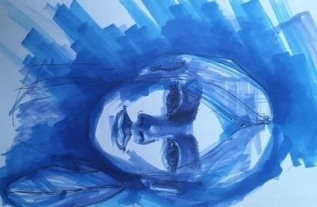 illustration, markers, sketch - octoberrrr | ello