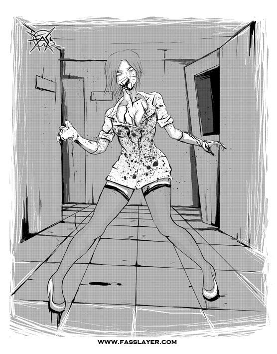 Zombie nurse - zombie, illustration - fasslayer   ello