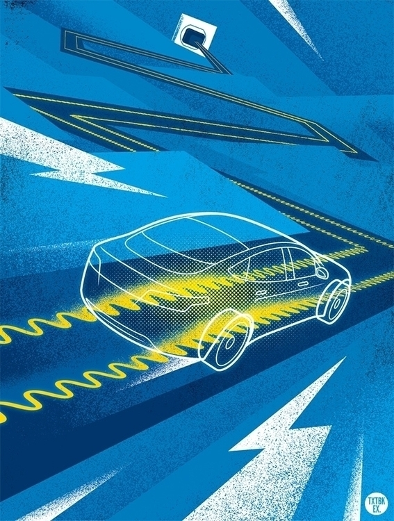 Charging Road - editorialillustration - jamesprovost | ello