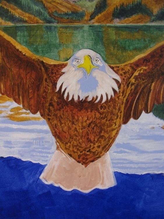 Lake Louise Messenger (detail - acryliconcanvas,eagle,eaglemessenger,totem,omen,LakeLouise,LakeLouiseAlberta,glacier,cloudmaker,cloudmakerglacier - metabaron777 | ello