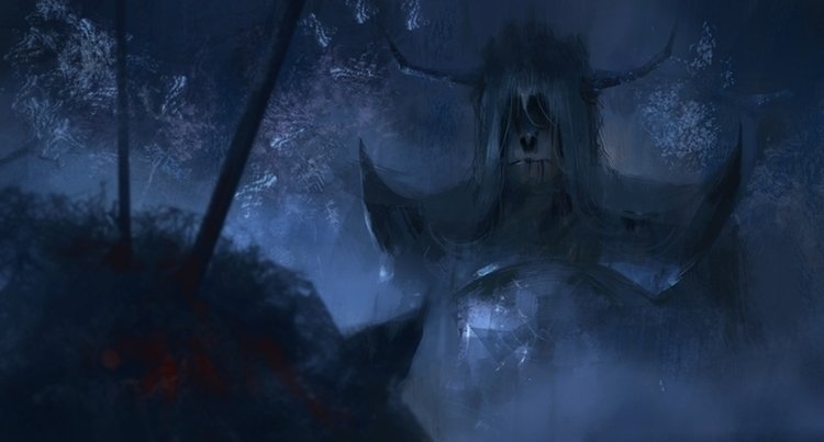 quick - fantasy, hunt, illustration - anna_warzecha | ello