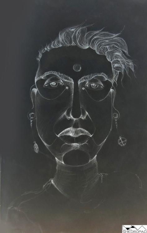 Indian man - illustration, painting - emilio-7671   ello