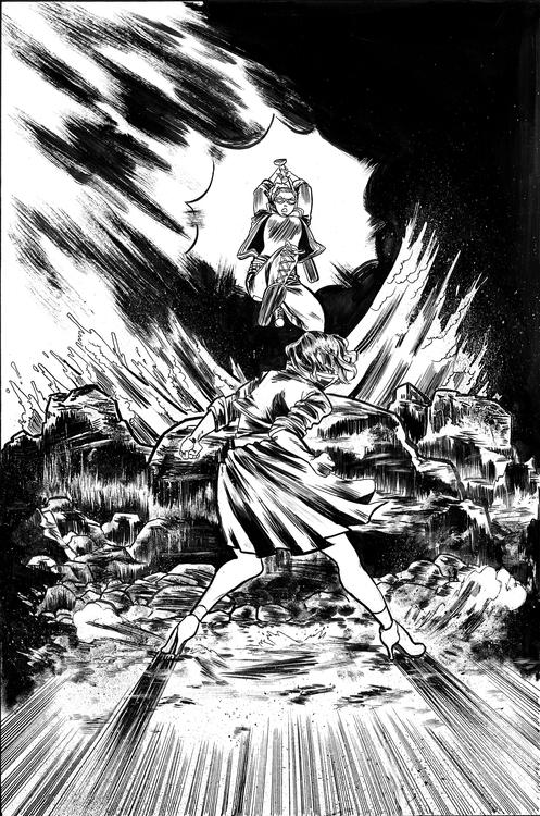 Fight Girl promo cover. inks br - sooleedraws | ello