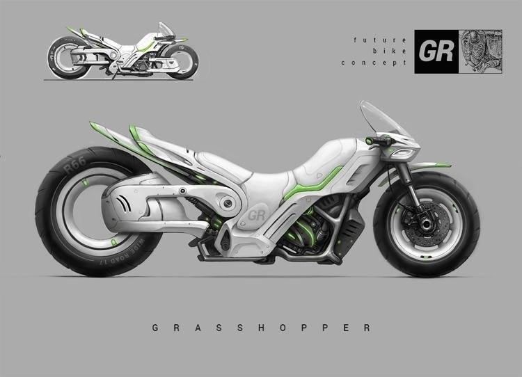 Grasshopper Bike - bike, moto, design - repius | ello