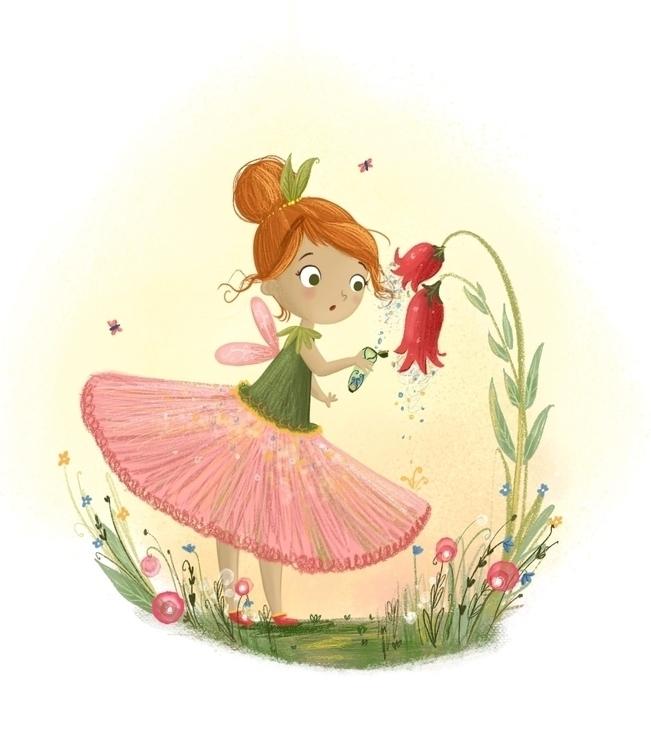 Garden Fairy - children'sillustration - illustratelucy   ello