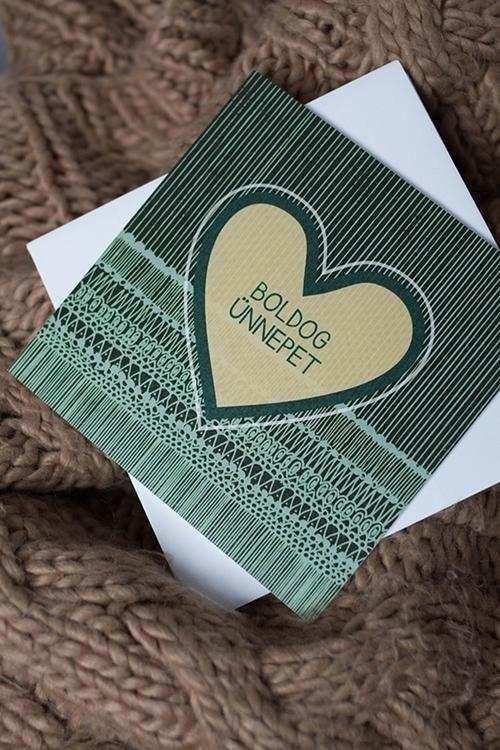 card, christmas, heart, green - felichart | ello