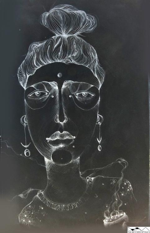 Indian woman - illustration, painting - emilio-7671 | ello