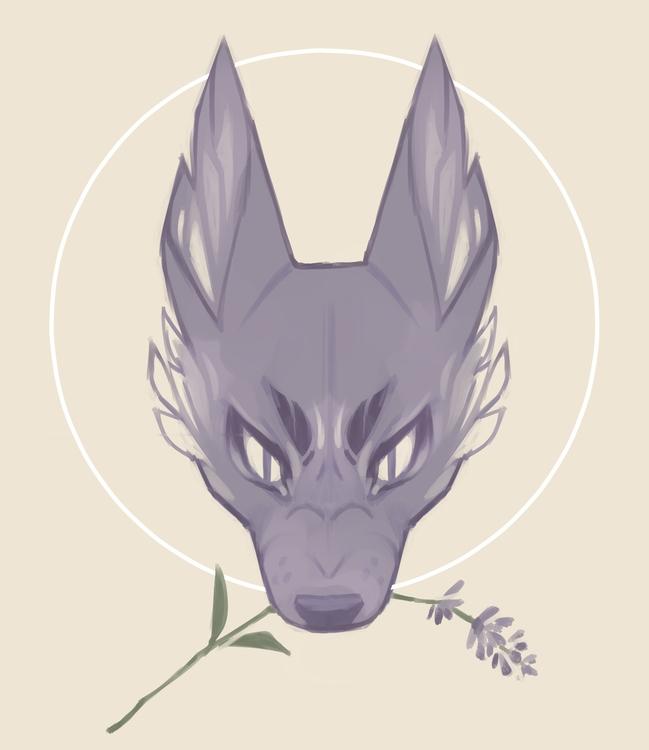 Lavender Dog - digitalart, canine - hevdra | ello