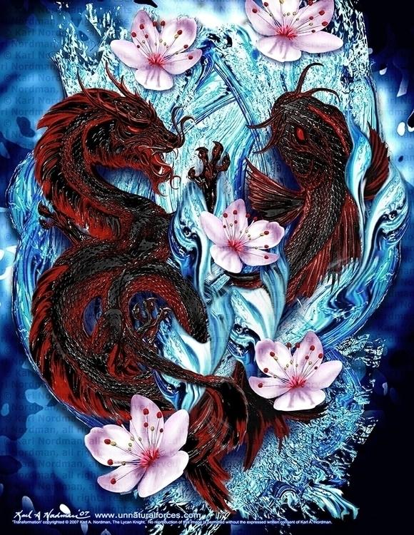 Transformation - japanese, japanesefolklore - thelycanknight | ello