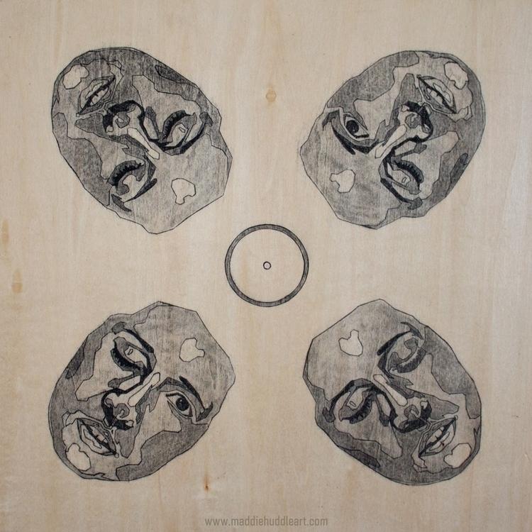 Carbon Quadra Charcoal Ink Wood - maddiehud | ello