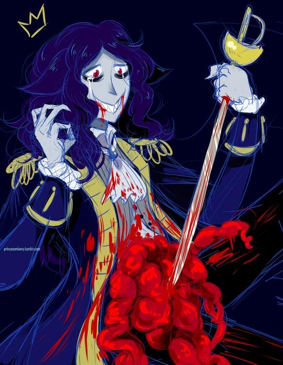fine - gore, vampire, originalcharacter - princessmisery | ello