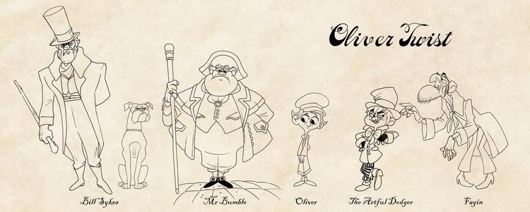Oliver Twist Character Lineup - characterdesign - finbarcoyle | ello