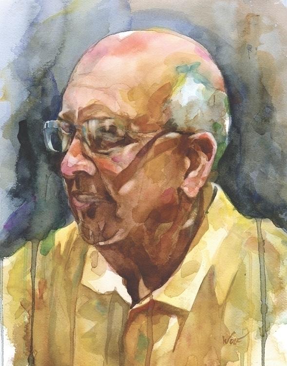 Fran - watercolor, portraitillustration - scottwulf | ello