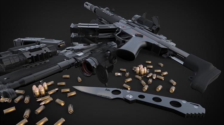 3dmodel, 3dart, weapon, 3dmodeling - blackice-1292 | ello