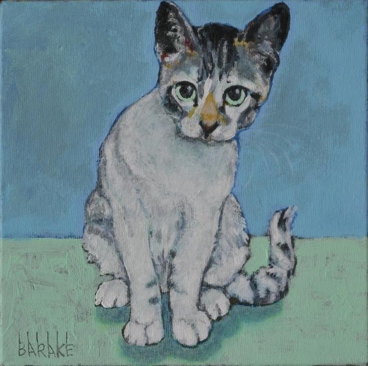 JENNIFER - painting, portrait, cat - barakesculptor | ello