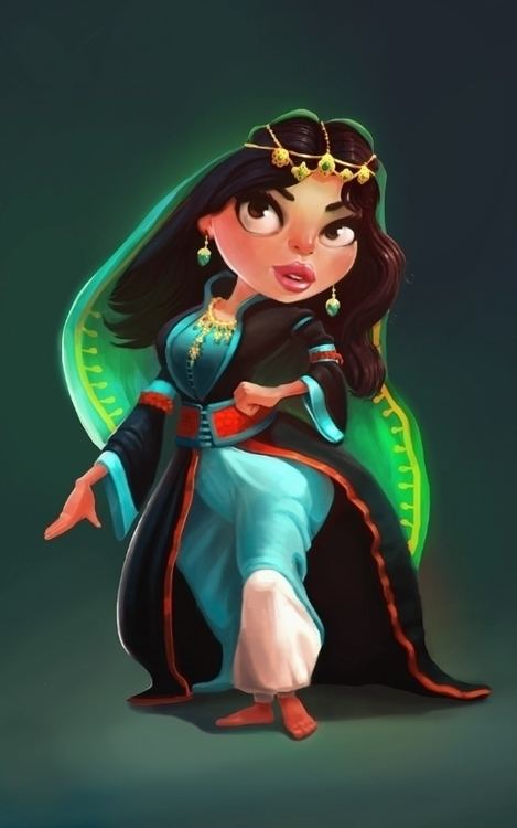 arabian woman - digitalart, digitalpainting - elwany | ello