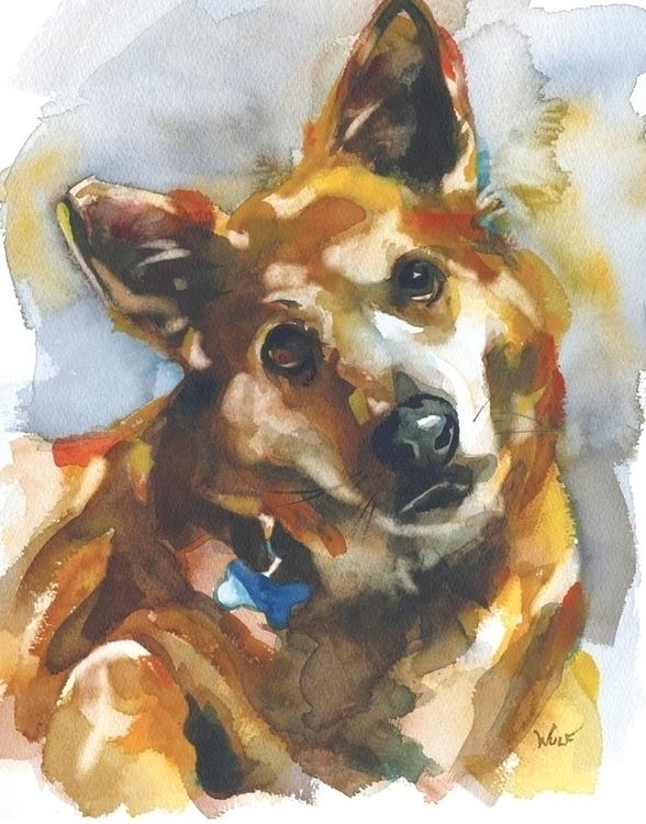 Cy - watercolor, portraitillustration - scottwulf | ello