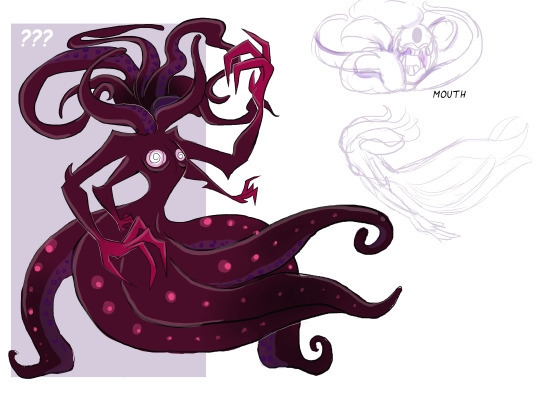 Minoan sea witch monster - illustration - rem-7093 | ello
