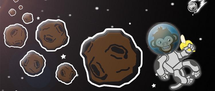 Galaxy Chimp banner art mobile  - darrikmarstaller | ello