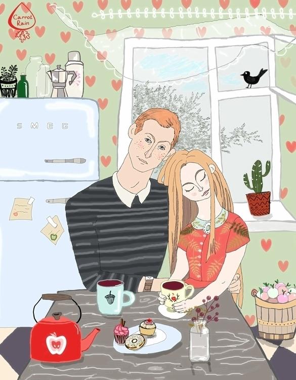 illustration, tea, love - carrotrain | ello