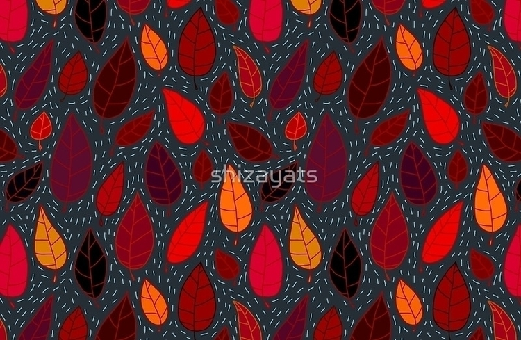 Autumn Leaves - leaves, autumn, pattern - pushkina | ello