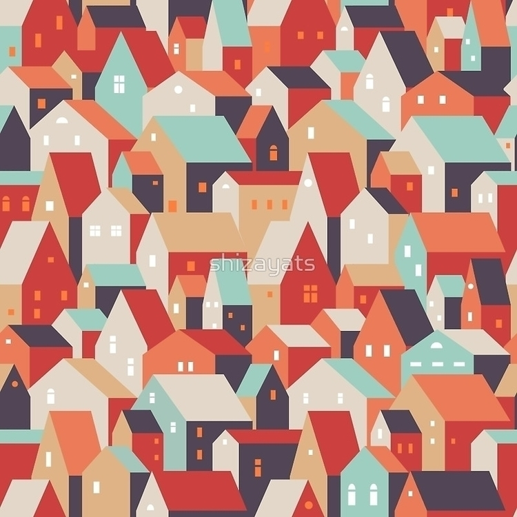 town - pattern, fabric, homedecor - pushkina | ello