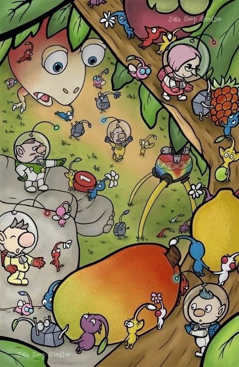 pikmin artwork finally - jellysoupstudios | ello
