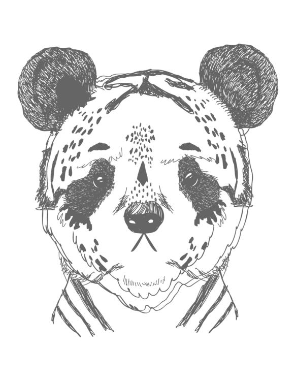 Panda Print Created iglo+indi S - karitasdottir   ello
