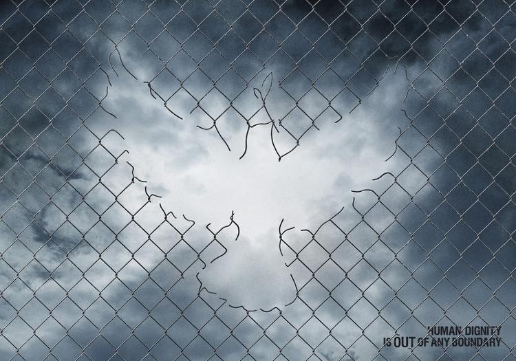 Human dignity boundary. Poster  - rono-1165 | ello