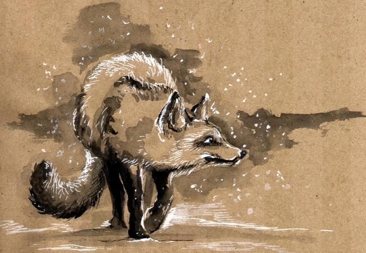 illustration, animal, sketch - annagosteva | ello