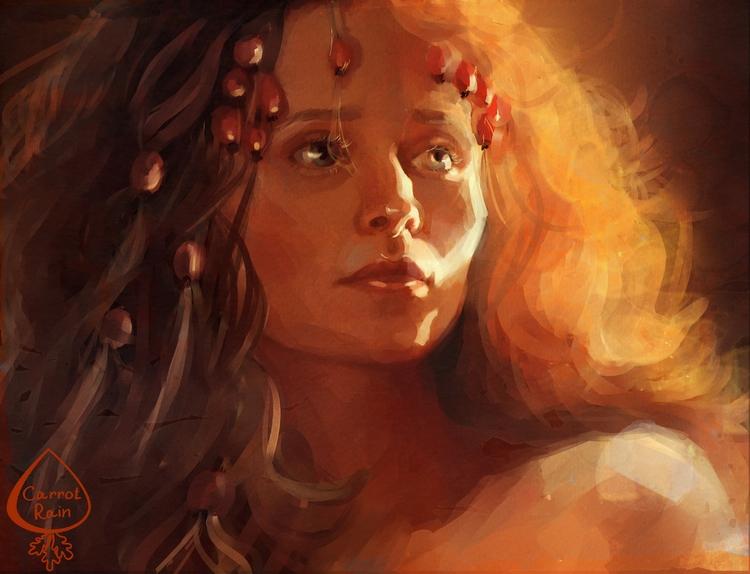 girl, portrait, redhead - carrotrain | ello