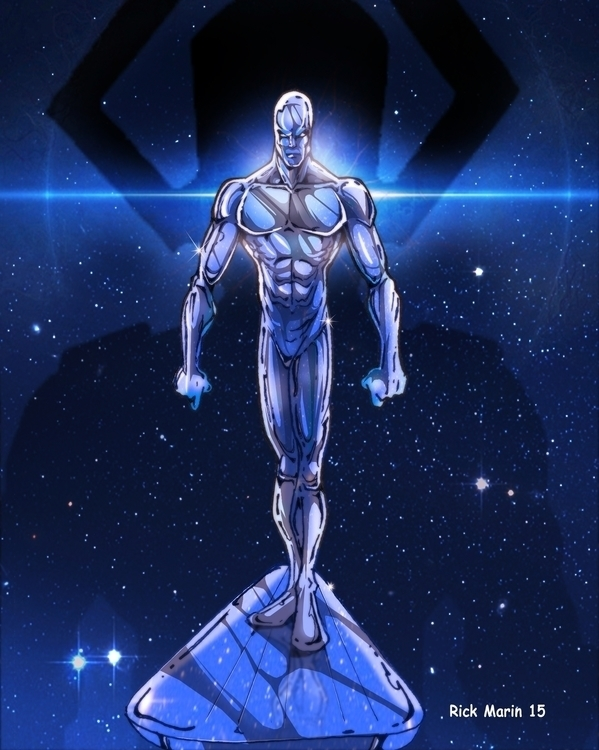 Silver Surfer - characterdesign - rickmarin   ello