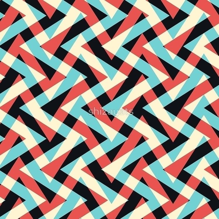 Crazy Retro ZigZag - pattern, zigzag - pushkina | ello