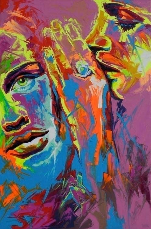 painting, popart, fluo-art, oiloncanvas - corentin-7918 | ello