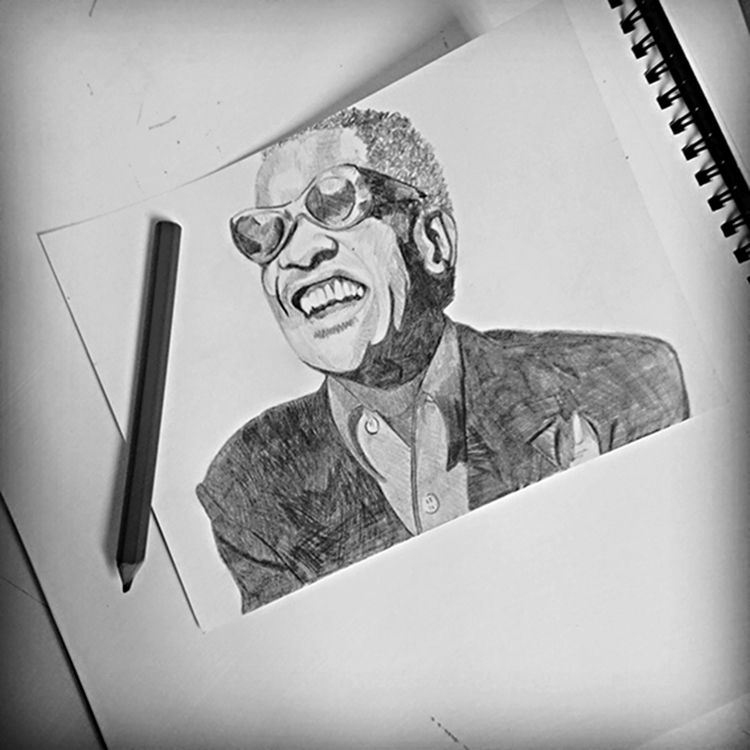 Ray Charles - pencildrawing, art - seanfinlay_ | ello