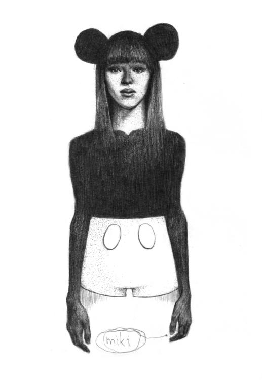 Mickey - portrait, mickeymouse, girl - natasakonjevic | ello